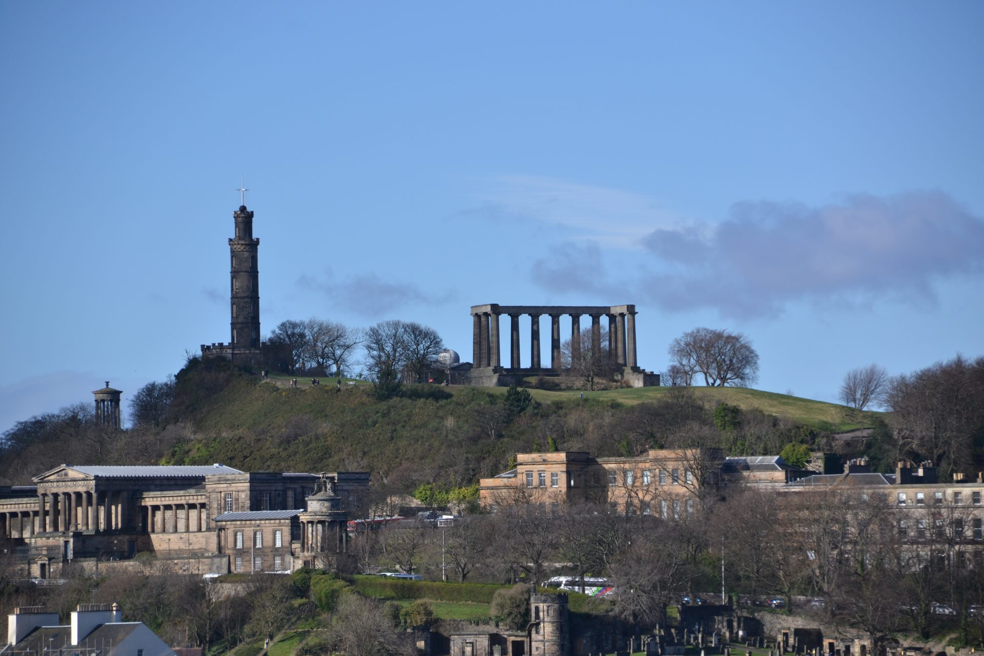 Calton Hill Edinburgh Nelson Monument National Monument