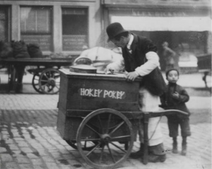 ice-cream seller hokey pokey Edinburgh Old Town World Heritage Site