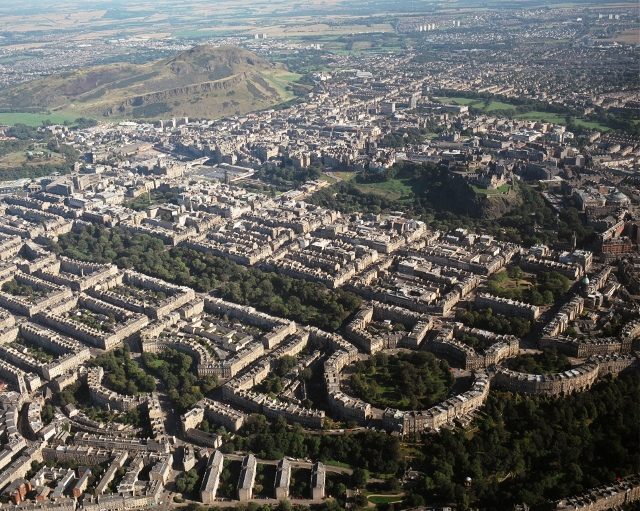 Edinburgh New Town Old Town World Heritage Site Aerial