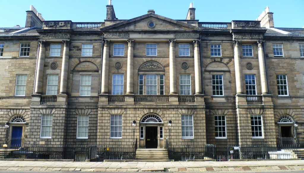 Bute House Charlotte Square New Town palace frontage Edinburgh