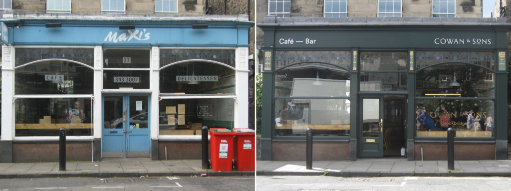 maxis cowan and sons before and after edinburgh world heritage